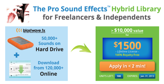 ProSoundEffects Hybrid Library – $1500 for 50k effects